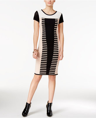 Bar Iii Contrast Bodycon Sweater Dress, Only at Macy's $89.50 thestylecure.com