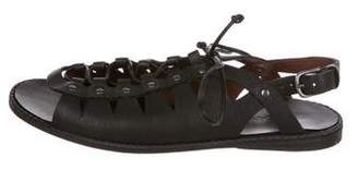 Henry Beguelin Leather Multistrap Sandals
