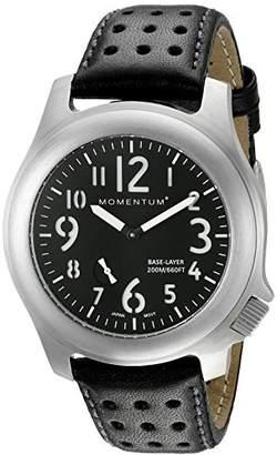 Momentum Men's 1M-SP76B3B Base Layer Analog Display Japanese Quartz Black Watch