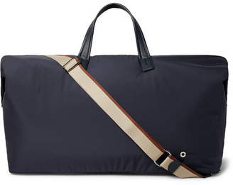 Loro Piana Voyager Leather-Trimmed Wind Storm System Nylon Holdall
