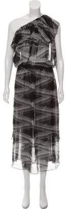 Thomas Wylde Printed Silk Dress