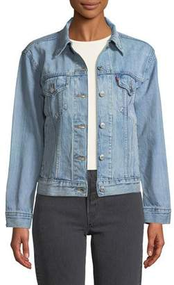 Levi's Premium Ex-Boyfriend Dream Of Life Denim Trucker Jacket