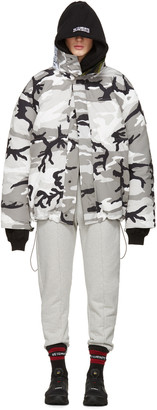 Vetements Reversible Grey Camouflage Canada Goose Edition Parka $3,640 thestylecure.com