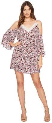 BB Dakota Keyes Ditzy Blossom Printed Crinkle Rayon Dress Women's Dress