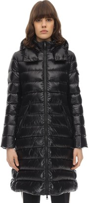 Moncler Moka Nylon Laque Down Coat