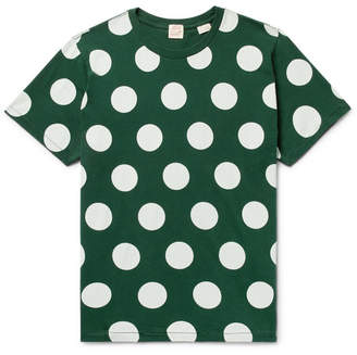 Levi's Polka-Dot Cotton-Jersey T-Shirt - Men - Dark green