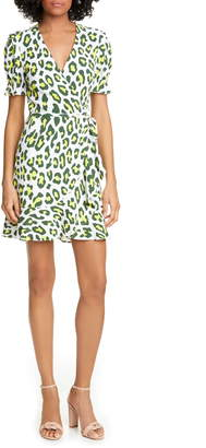 Diane von Furstenberg Emilia Floral Short Sleeve Wrap Dress