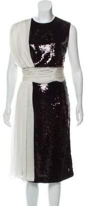Giambattista Valli Sequin Midi Dress w/ Tags