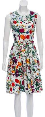 Samantha Sung Floral Pleated Dress
