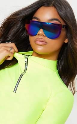 2f6b1595d2a PrettyLittleThing Multi Colour Revo Lens Oversized Visor Sunglasses