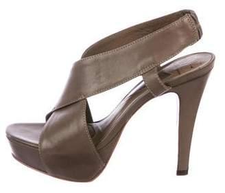 Diane von Furstenberg Leather Platform Sandals