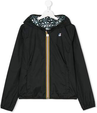 K Way Kids TEEN hooded zipped jacket
