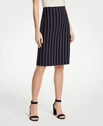 Ann Taylor Pinstripe Ponte Knit Pencil Skirt