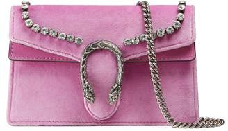 Gucci Dionysus suede super mini bag with crystals