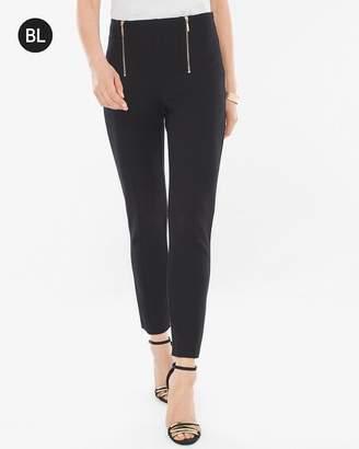 Black Label Ponte Double-Zip Pants