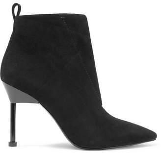 Mercedes Benz Castillo - Kasuri Suede Ankle Boots - Black