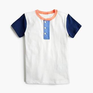 J.Crew Boys' short-sleeve colorblocked henley shirt