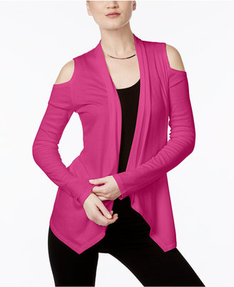 INC International Concepts Off-The-Shoulder Cardigan, Only at Macy's $49.50 thestylecure.com