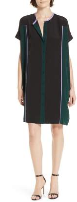 Diane von Furstenberg Colorblock Silk Shirtdress
