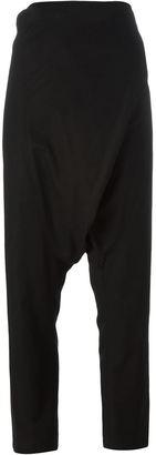 Yohji Yamamoto drop crotch trousers $987.67 thestylecure.com