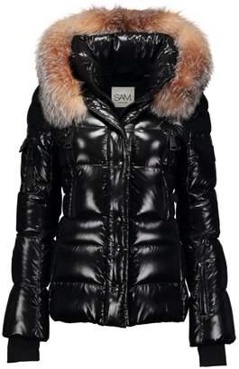 SAM. Decade Fox Fur-Trim Down Puffer