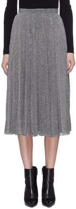 Philosophy di Lorenzo Serafini Colourblock metallic pleated skirt