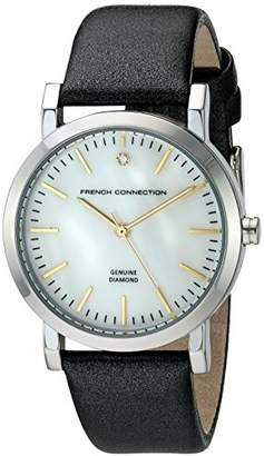 French Connection Women's 'Catherine Diamond' Quartz Metal and Leather Watch