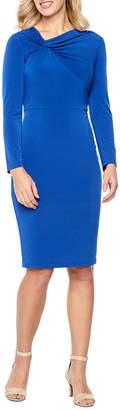 Liz Claiborne Long Sleeve Sheath Dress