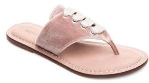 Bernardo Matilda Velvet Thong Sandals