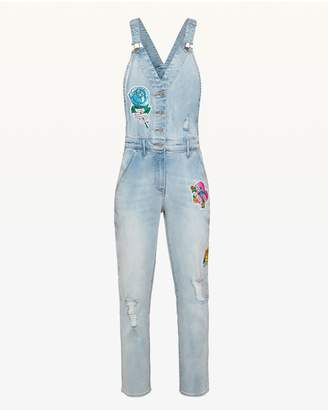 Juicy Couture JXJC Tattoo Patch Denim Overall