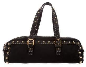 Fendi Leather-Trimmed Shoulder Bag