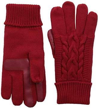 Isotoner Women's Cable Knit Touchscreen Texting Cold Weather Gloves with Warm Fleece Lining