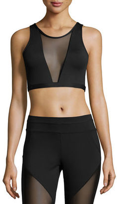 Varley Terri Sports Bra W/Mesh Panel $60 thestylecure.com
