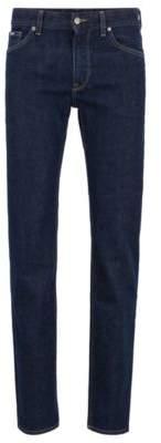 BOSS Regular-fit jeans in Italian stretch denim