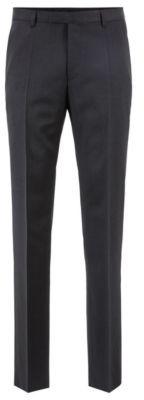 BOSS Hugo Straight-leg business pants in virgin wool 30R Dark Grey