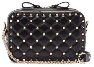 Valentino Rockstud Spike Quilted Leather Cross Body Bag - Womens - Black
