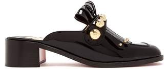 Christian Louboutin Octavian 35 Patent Leather Mules - Womens - Black Gold