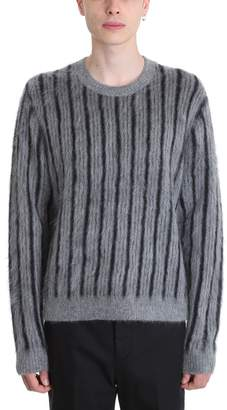 3.1 Phillip Lim Grey Mohair Wool Sweater