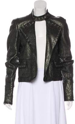 Thomas Wylde Grommet-Accented Leather Jacket