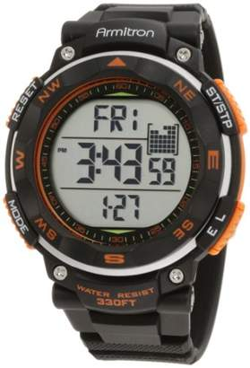 Armitron Sport Men's 40/8254ORG Black Strap Orange Accented Digital Chronograph Watch