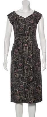 Thomas Wylde Embellished Silk Dress