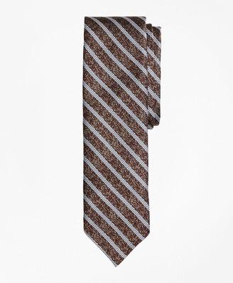 Brooks Brothers Heathered Stripe Silk Jacquard Tie
