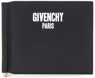 Givenchy Paris Print On Money Clip Wallet