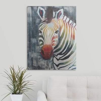 Wayfair 'Prism Zebra II' Hyden Painting Print