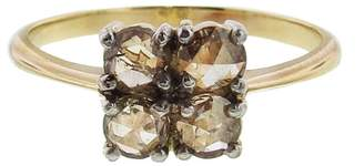 OONA Collections Four Rose Cut Diamond Ring