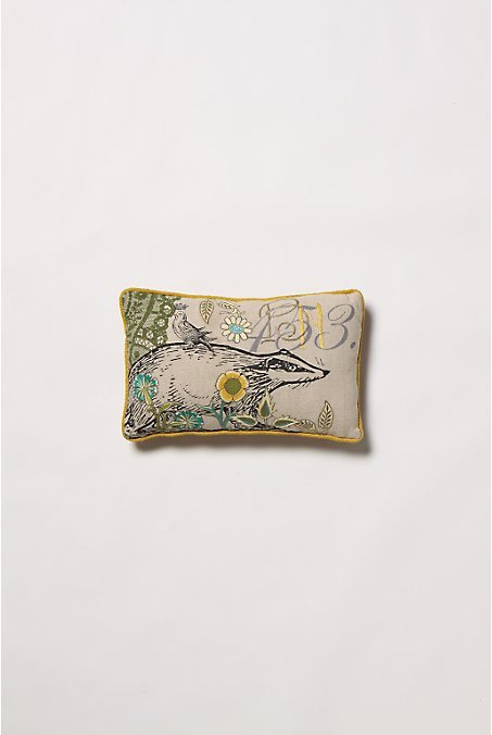 Wild & Wooly Pillow, Badger