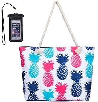 c8dccdd06e MISS FANTASY Beach Bag Large Waterproof Flamingo Pineapple Summer Tote