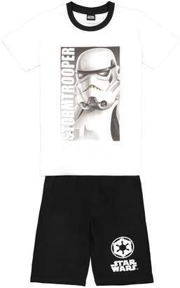 Star Wars Cotton Stormtroopers Print Short Pyjamas, 8-16 Years