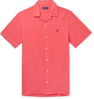 Polo Ralph Lauren Camp-Collar Linen, Tencel and Cotton-Blend Shirt - Men - Red