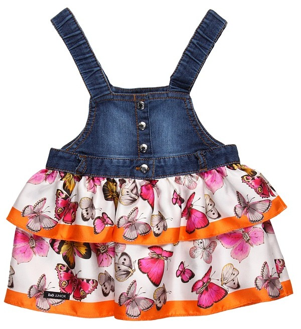 D&G Salopette Dress (Infant) (Butterfly) - Apparel